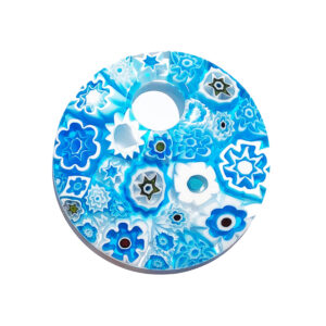 Murano glass pendant - large – sky blue