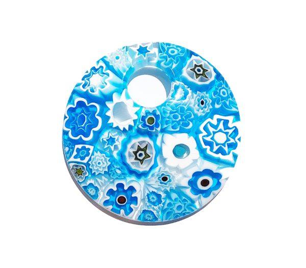 Murrine - collana tonda - azzurro