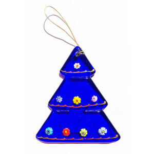 Christmas tree – hanging ornament – blue