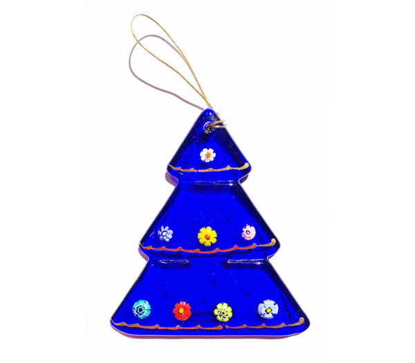 Christmas tree – hanging ornament – blue