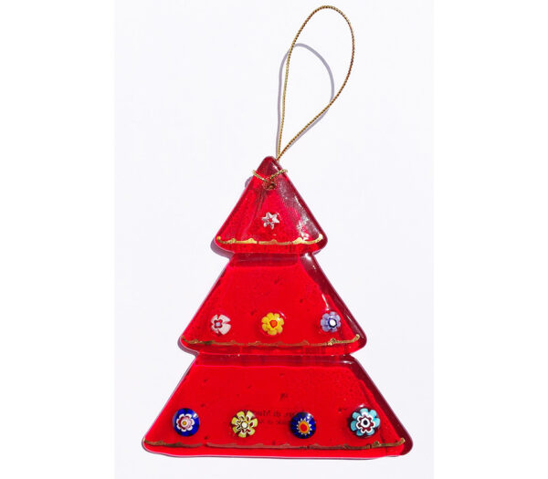 Christmas tree – hanging ornament – red