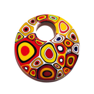 Murano glass murrine pendant - multicolour