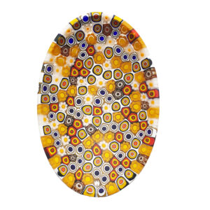 06 Murano glass plate - oval – yellow