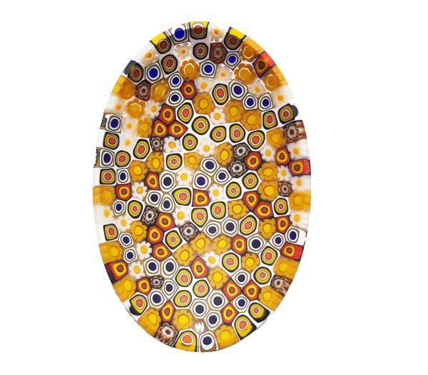 06 Murano glass plate - oval – yellow