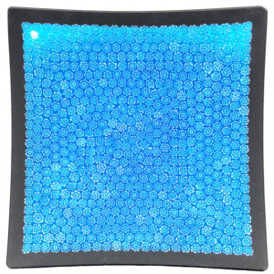 06 Murano glass plate – blue