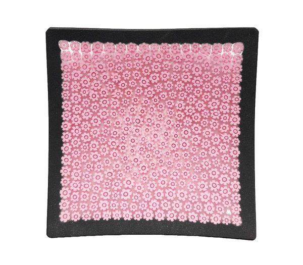 Piatto quadrato rosa 135x135