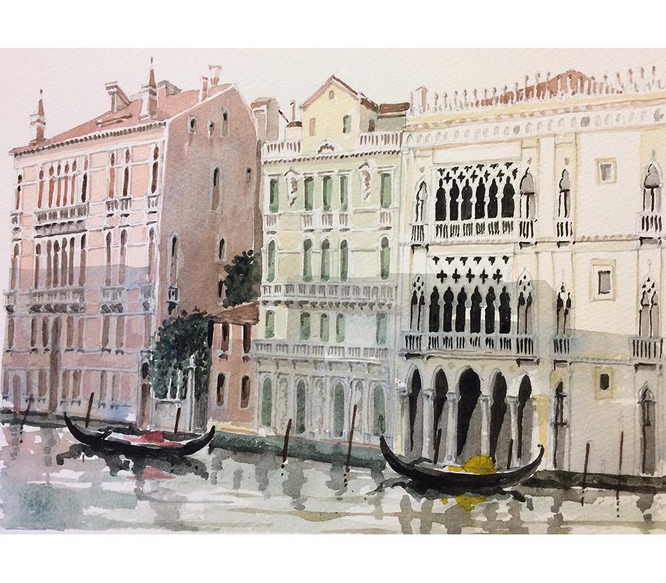 Watercolours - Ca' d'oro A
