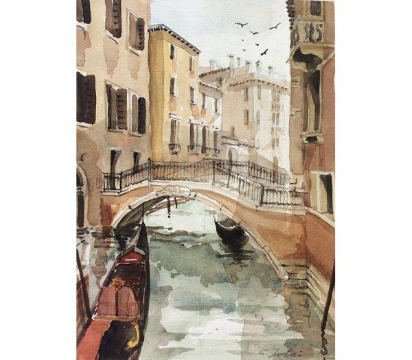 Watercolour - Canale Guerra