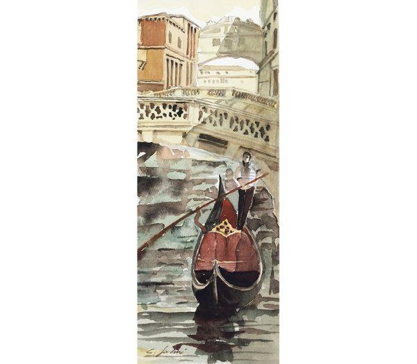 Acquarello Gondola - Ponte dei Sospiri