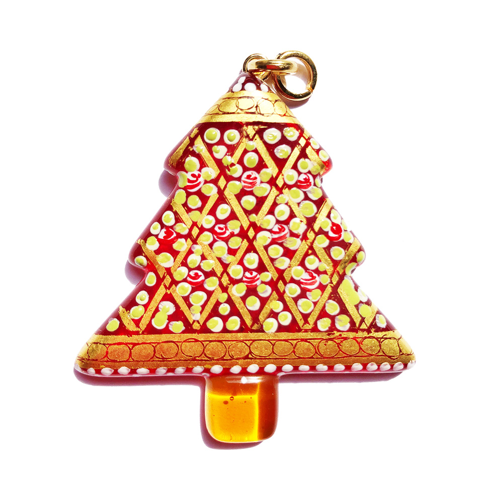 Murano glass jewellery - pendant with pure gold leaf