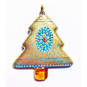 Murano glass pendant with pure gold leaf 6
