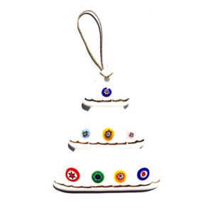 Christmas tree – hanging ornament – white