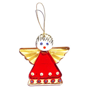 Angel – hanging ornament – red