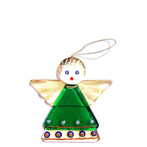 Angel – hanging ornament – green