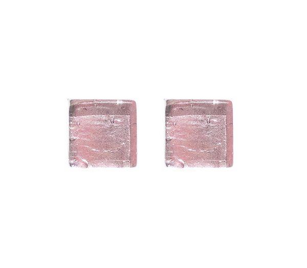 Gemelli in vetro di Murano argento tinta unita ametista