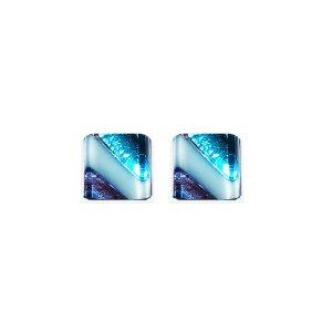 Orecchini argento aghe bacchetta azzurra