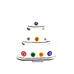 Christmas tree – table ornament – white