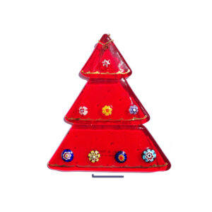 Christmas tree – table ornament – red
