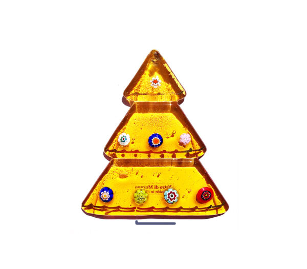 Christmas tree table ornament - topaz