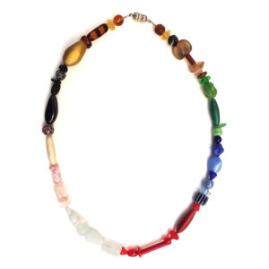 Multicoloured Necklace with Murano Glass Beads