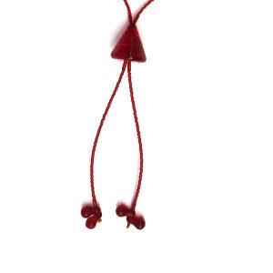 Collana perla a lume - cuneo rosso