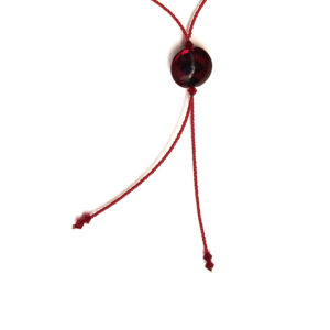 Lampwork Murano Glass Bead Necklace – Round Red