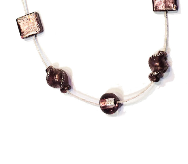 Necklace with Vintage Murano Glass Beads