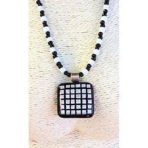 Collana vecchie perle con perla di Murano 01